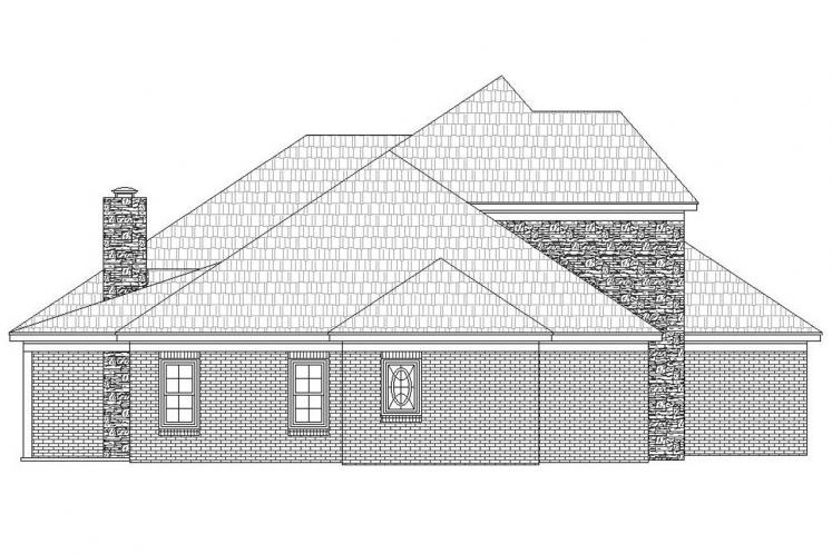 Southern House Plan - Whitetail 44842 - Left Exterior