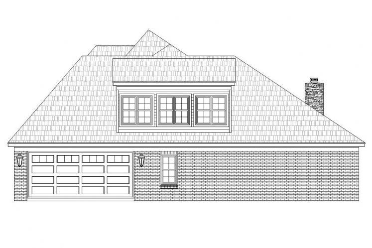 Classic House Plan - Whitetail 44842 - Right Exterior