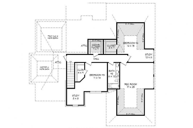 Classic House Plan - Whitetail 44842 - 2nd Floor Plan