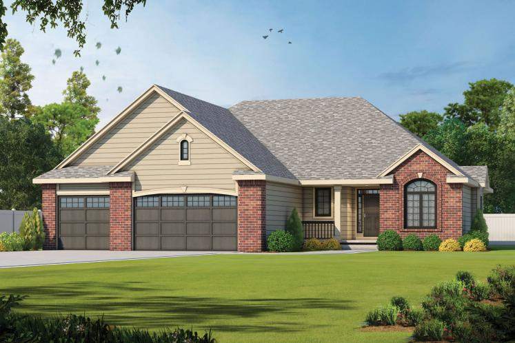 Traditional House Plan - Gonzales 44851 - Front Exterior
