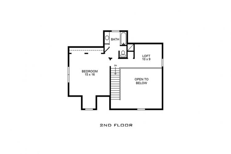 Farmhouse House Plan - Jennings 44861 - 2nd Floor Plan