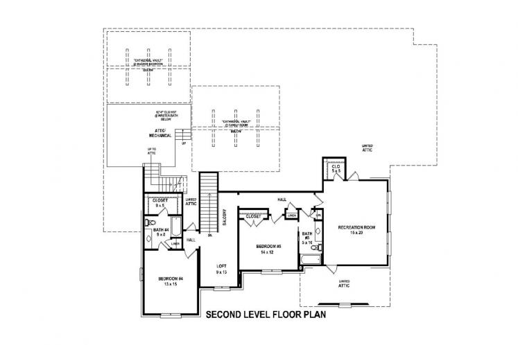 Traditional House Plan -  44876 - 1st Floor Plan