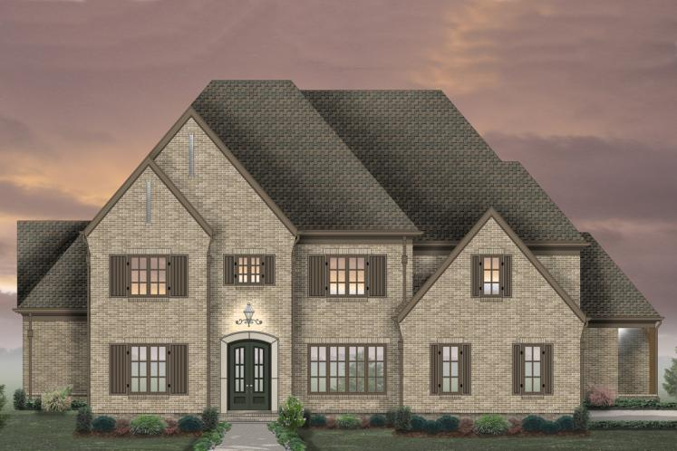 Classic House Plan -  44876 - Front Exterior