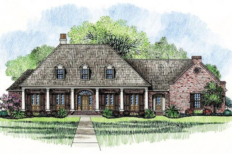 Southern House Plan - Plantation 44913 - Front Exterior