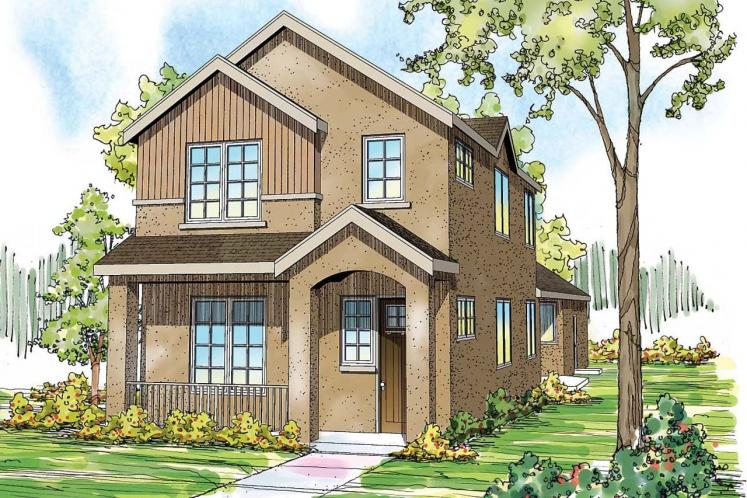 Contemporary House Plan - Rock Creek II 44949 - Front Exterior