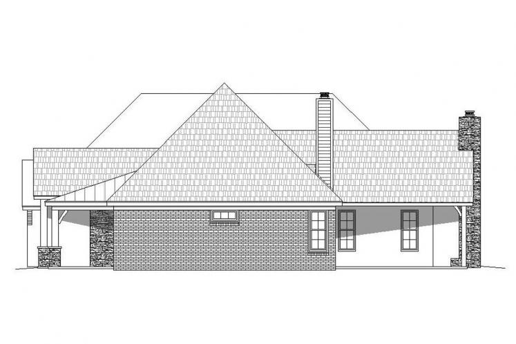 European House Plan - Garland 44952 - Right Exterior