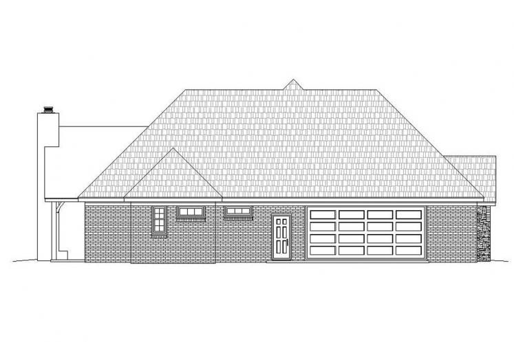 Ranch House Plan - Garland 44952 - Left Exterior