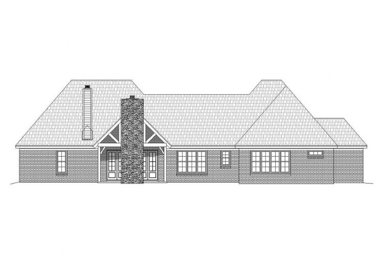 Craftsman House Plan - Garland 44952 - Rear Exterior