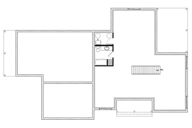 Country Multi-family Plan - Generation 44964 - Basement Floor Plan