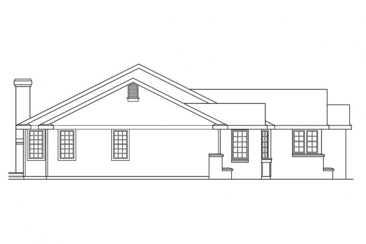 Traditional House Plan - Burlington 44980 - Left Exterior