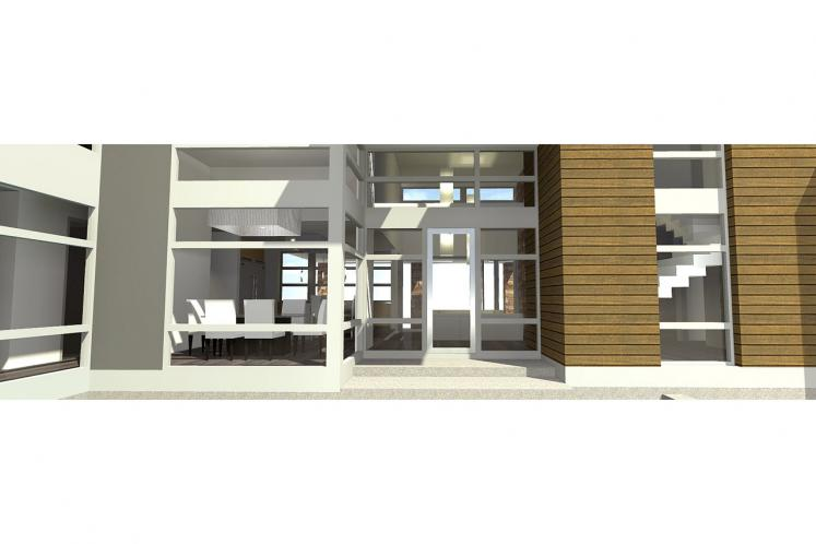 Modern House Plan - Mesa 45002 - Entrance