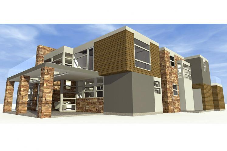 Modern House Plan - Mesa 45002 - Left Exterior