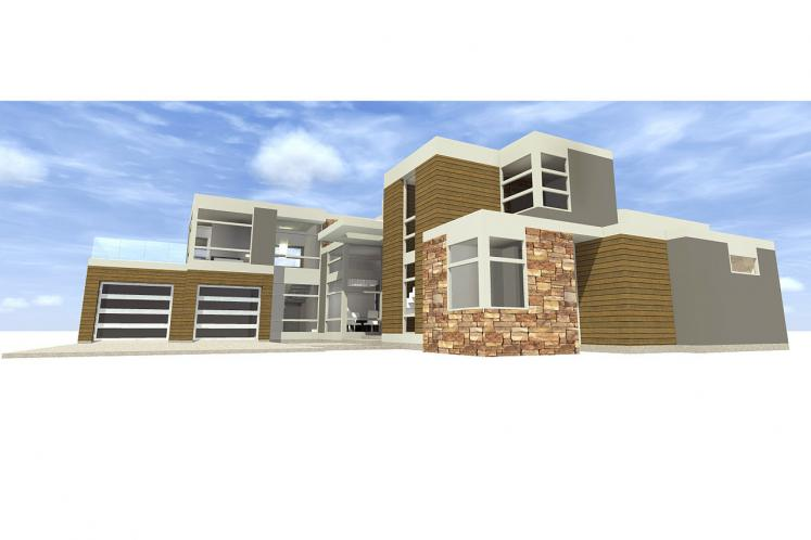 Contemporary House Plan - Mesa 45002 - Rear Exterior