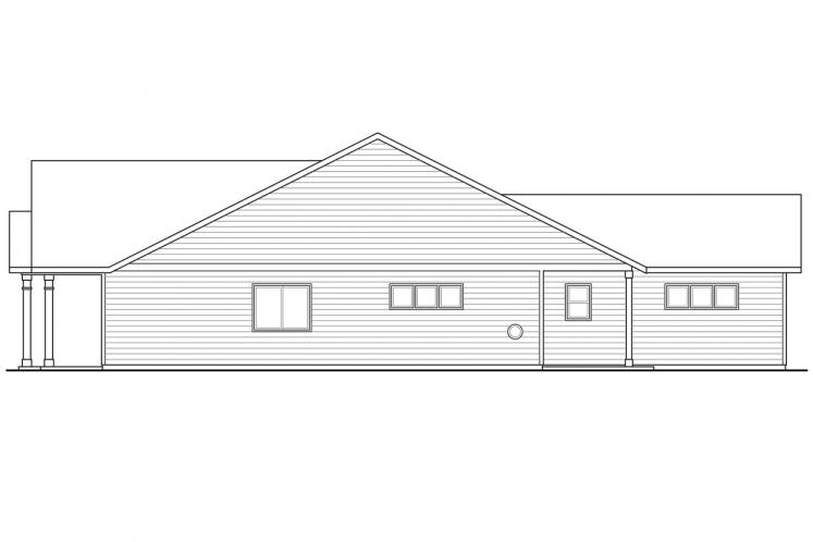 Cottage House Plan - Caspian 45189 - Right Exterior