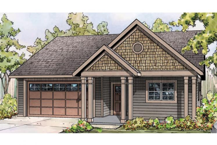 Cottage House Plan - Caspian 45189 - Front Exterior