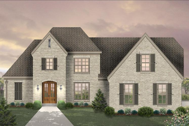 Southern House Plan -  45217 - Front Exterior