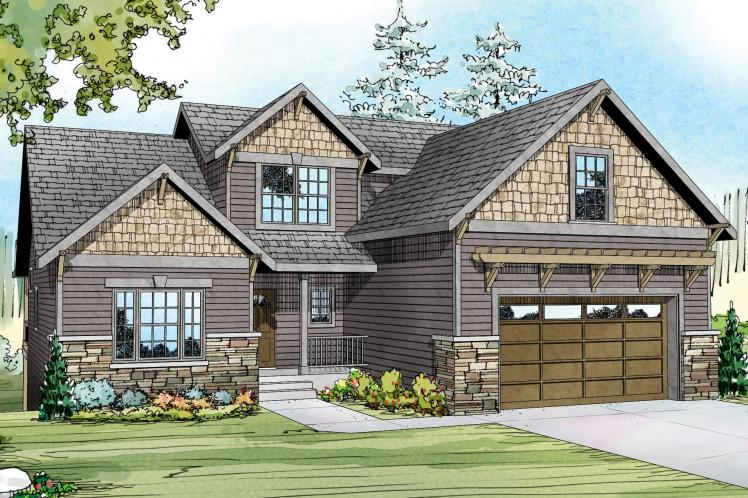 Country House Plan - Brookville 45322 - Front Exterior