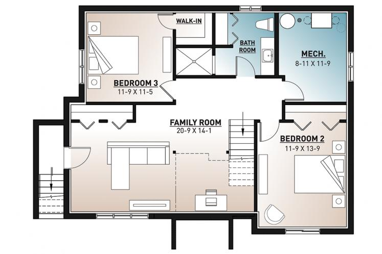 Lodge Style House Plan - The Cap 2 45406 - 2nd Floor Plan