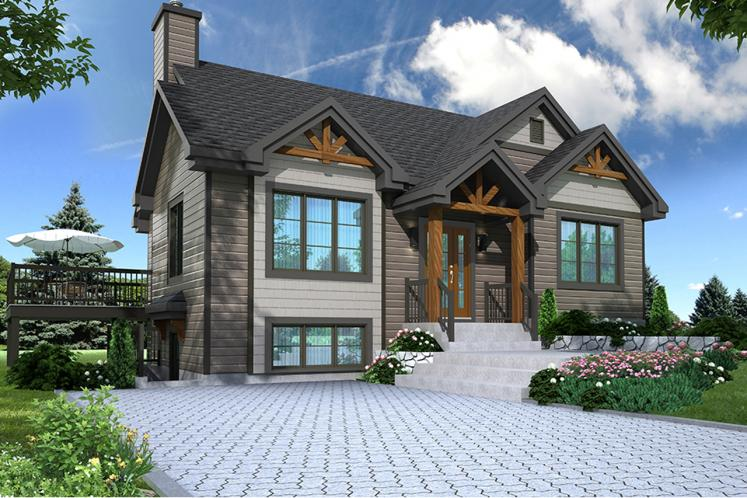Lodge Style House Plan - The Cap 2 45406 - Front Exterior