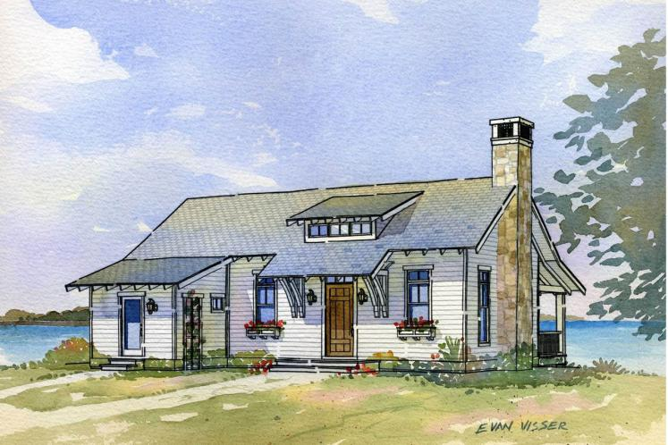 Cottage House Plan - Heron 45602 - Front Exterior