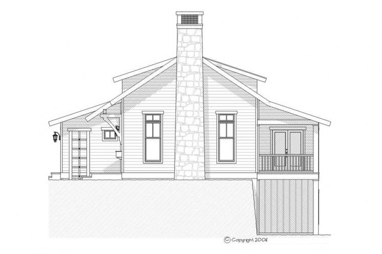Craftsman House Plan - Heron 45602 - Right Exterior