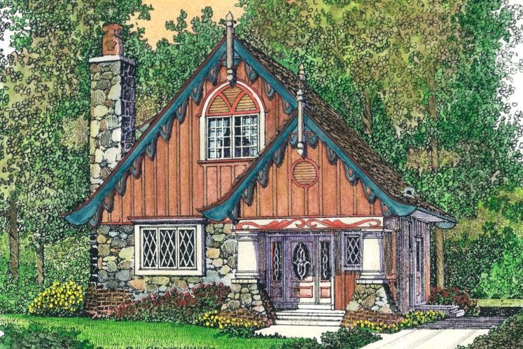 Cottage House Plan -  45644 - Front Exterior