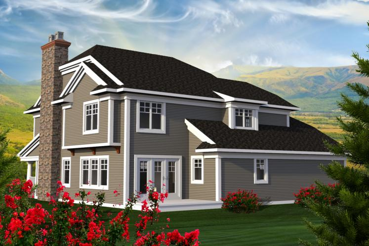 Craftsman House Plan -  45649 - Rear Exterior