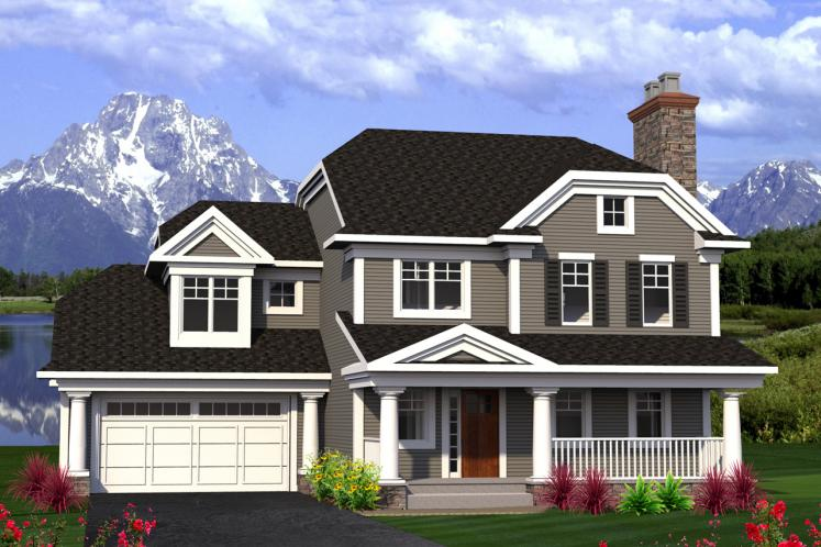 Traditional House Plan -  45649 - Front Exterior