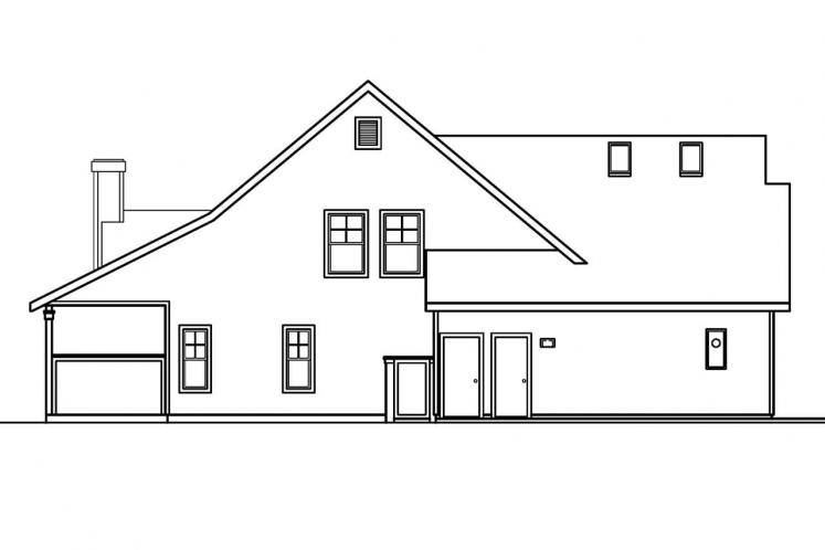 Traditional House Plan - Bryson 45672 - Left Exterior