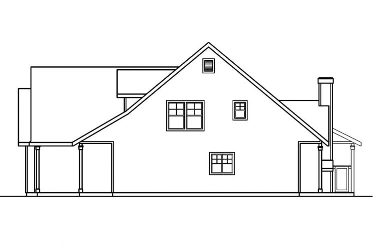 Country House Plan - Bryson 45672 - Right Exterior