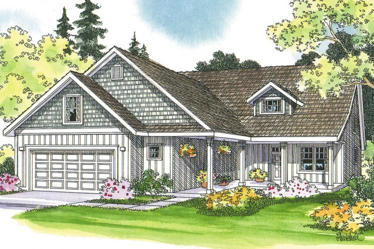 Country House Plan - Bryson 45672 - Front Exterior