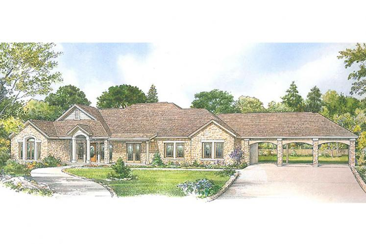 Country House Plan - Huntington 45754 - Front Exterior