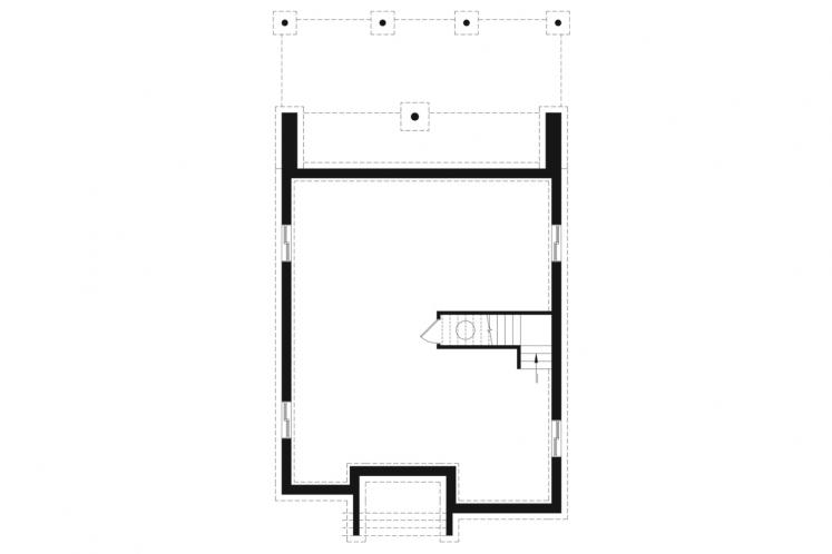 Modern House Plan - Essex 3 45789 - Basement Floor Plan