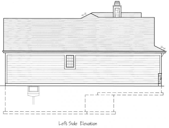 Cottage House Plan - The Biscayne 45846 - Left Exterior