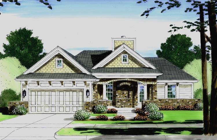 Cottage House Plan - The Biscayne 45846 - Front Exterior