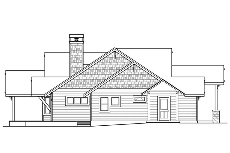 Ranch House Plan - Cedar Height 45893 - Left Exterior
