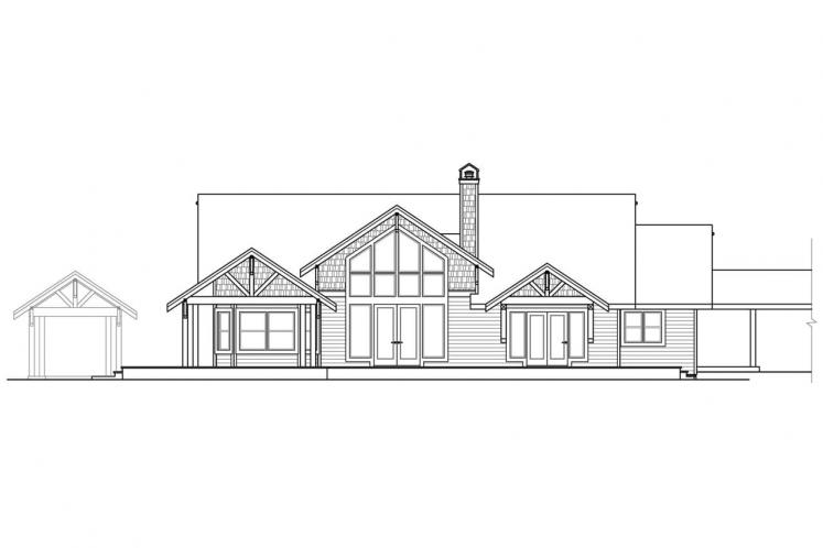 Craftsman House Plan - Cedar Height 45893 - Rear Exterior