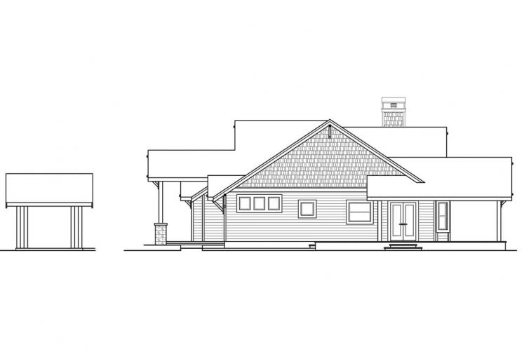 Lodge Style House Plan - Cedar Height 45893 - Right Exterior