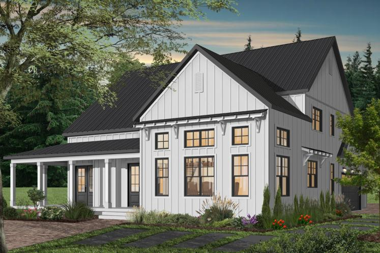Country House Plan - Greenhills 2 46224 - Rear Exterior