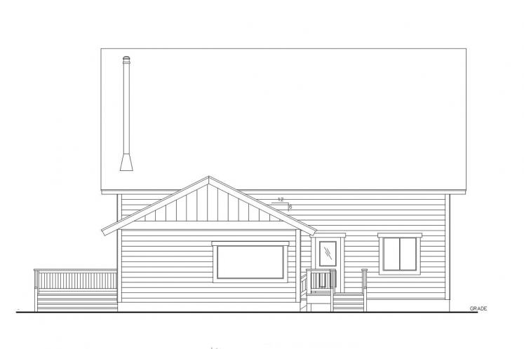 Country House Plan -  46349 - Right Exterior