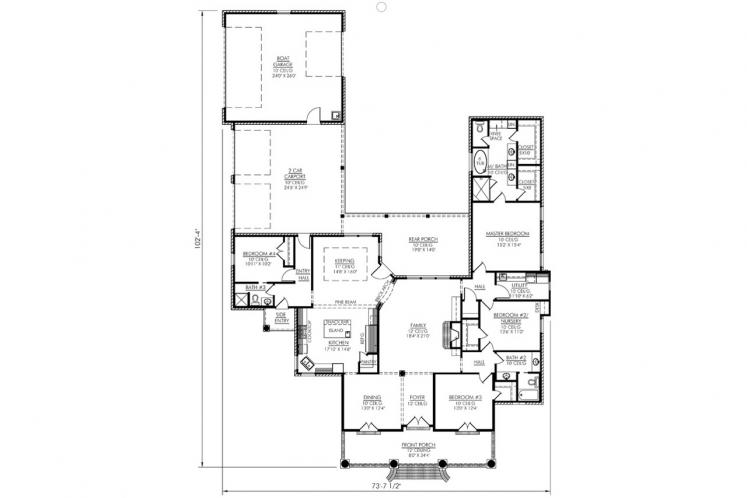 Classic House Plan - Iberville 46380 - 1st Floor Plan