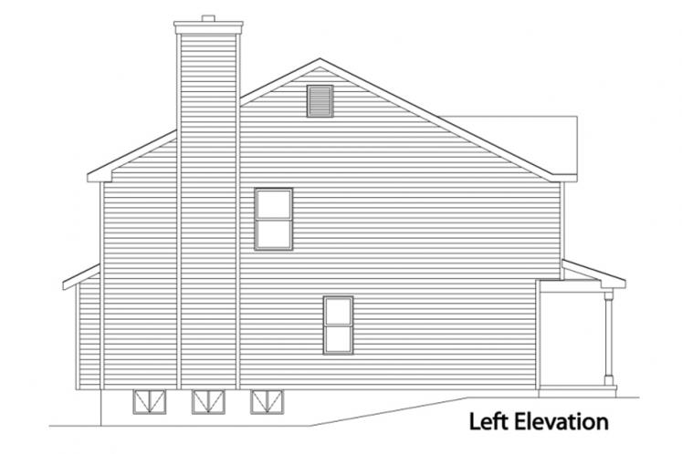 Traditional House Plan -  46471 - Left Exterior