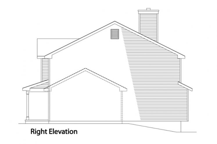 Country House Plan -  46471 - Right Exterior