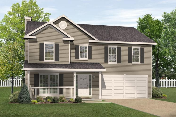 Traditional House Plan -  46471 - Front Exterior