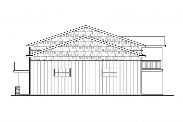 Country Garage Plan - Garage 46527 - Right Exterior