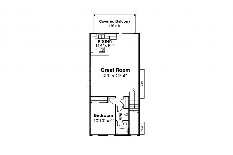 Country Garage Plan - Garage 46527 - 2nd Floor Plan