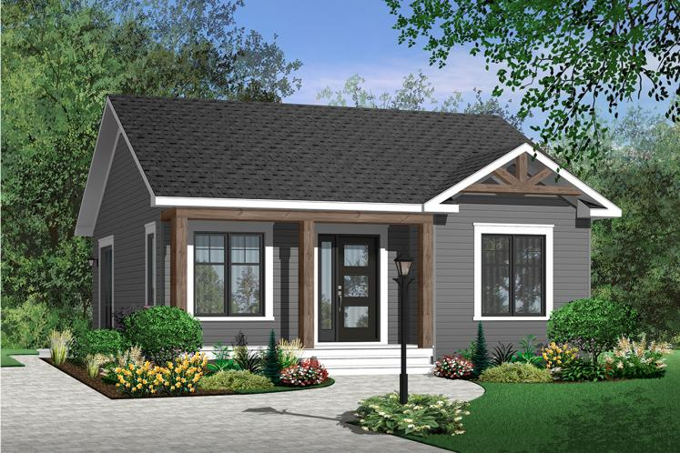 Cottage House Plan - Sisken 46593 - Front Exterior