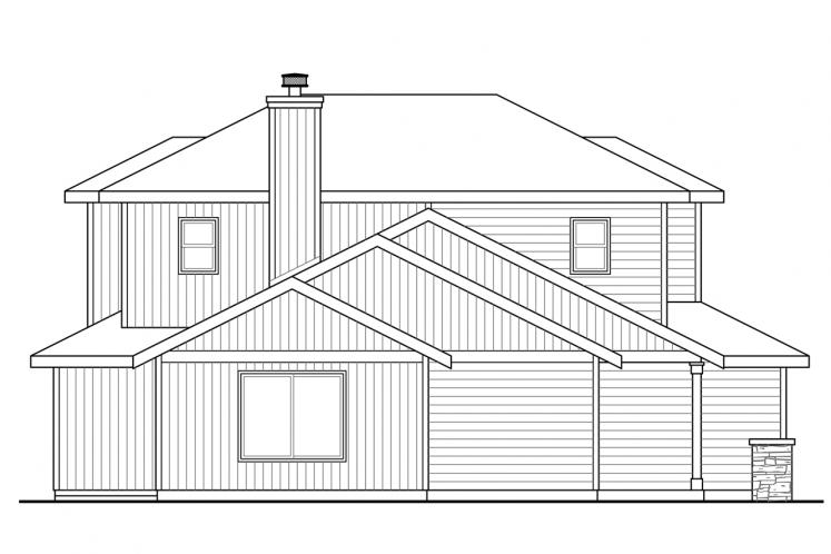 Country House Plan - Oakview 46601 - Left Exterior