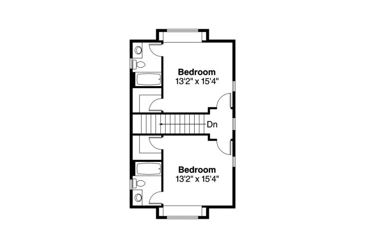 Traditional House Plan - Oakview 46601 - 2nd Floor Plan