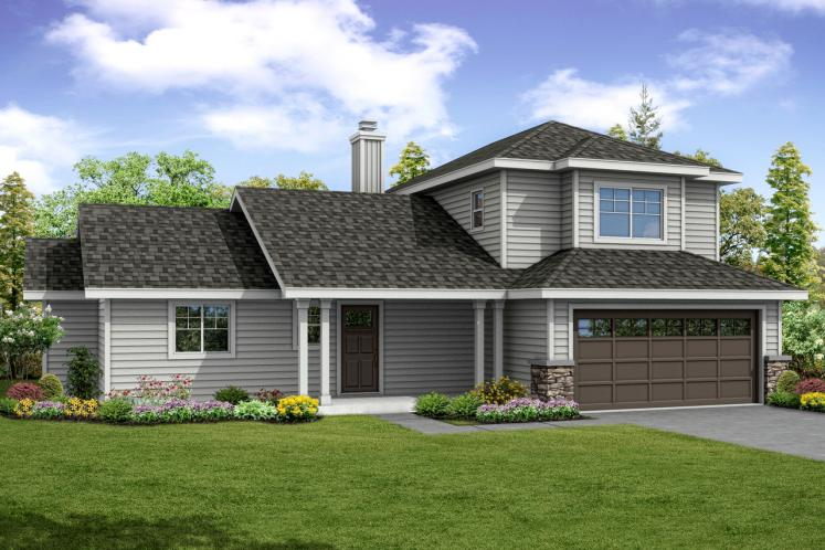 Country House Plan - Oakview 46601 - Front Exterior